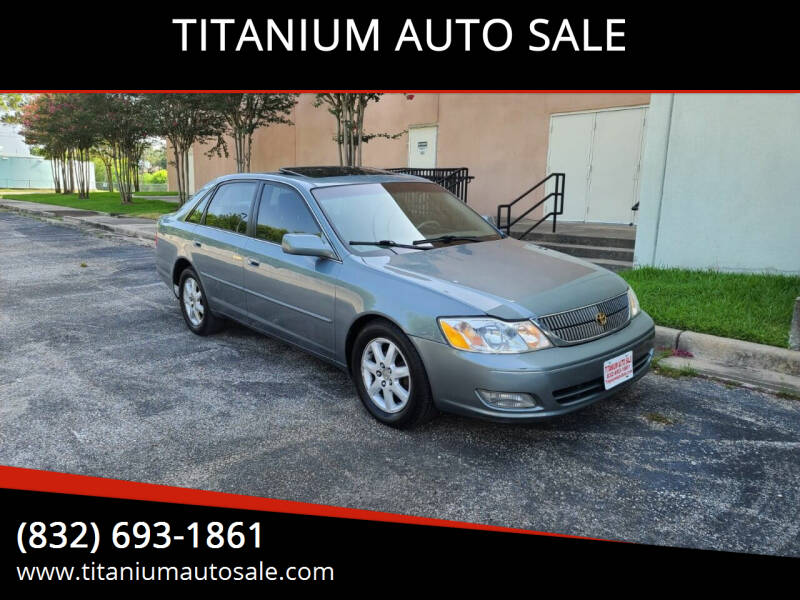 2001 Toyota Avalon for sale at TITANIUM AUTO SALE in Houston TX