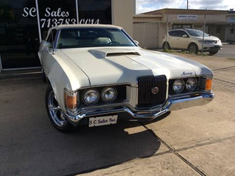 1972 Mercury Cougar for sale at SC SALES INC in Houston TX