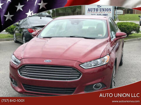 2015 Ford Fusion for sale at Auto Union LLC in Virginia Beach VA