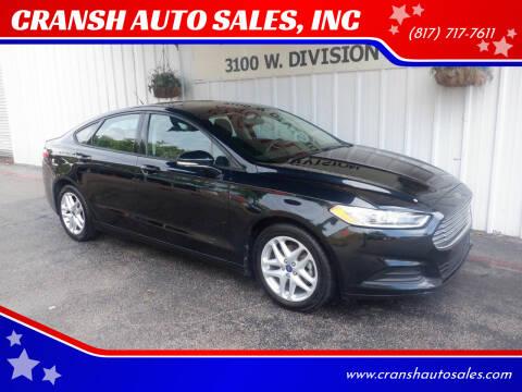 2014 Ford Fusion for sale at CRANSH AUTO SALES, INC in Arlington TX