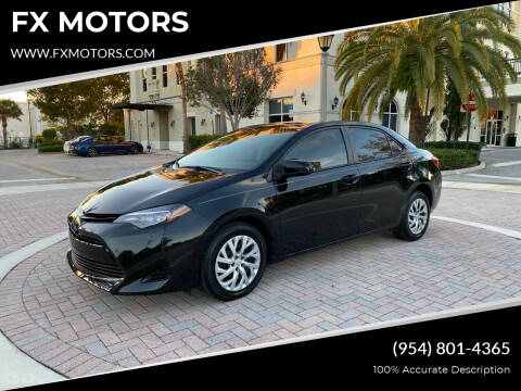 2017 Toyota Corolla for sale at FX MOTORS in Margate FL