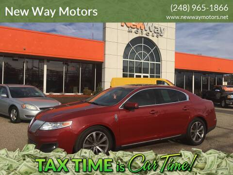 2009 Lincoln MKS for sale at New Way Motors in Ferndale MI