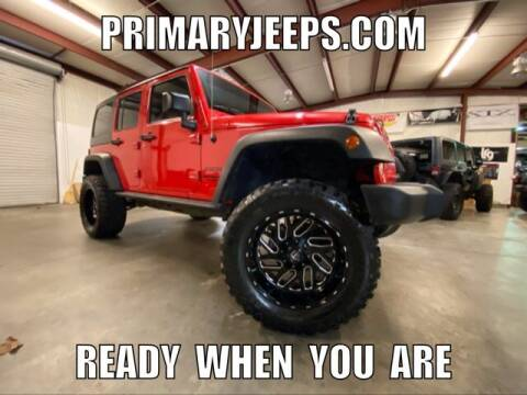 2016 Jeep Wrangler Unlimited for sale at Primary Auto Group Jeeps Hummers Tacomas in Dawsonville GA