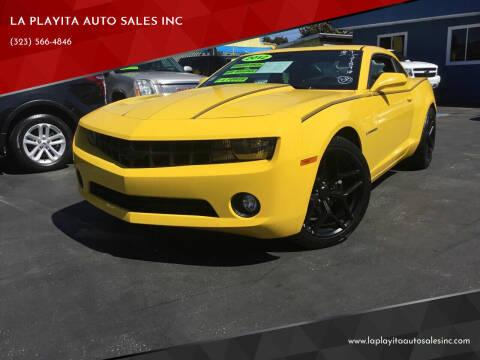 2012 Chevrolet Camaro for sale at LA PLAYITA AUTO SALES INC in South Gate CA