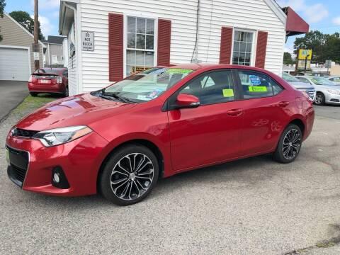 2015 Toyota Corolla for sale at Crown Auto Sales in Abington MA