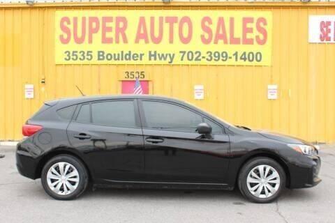 2018 Subaru Impreza for sale at Super Auto Sales in Las Vegas NV