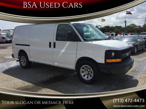2013 Chevrolet Express Cargo for sale at BSA Used Cars in Pasadena TX