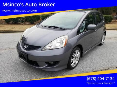 2011 Honda Fit for sale at Msinco's Auto Broker in Snellville GA