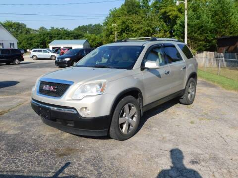 2012 GMC Acadia for sale at Advance Auto Sales in Florence AL