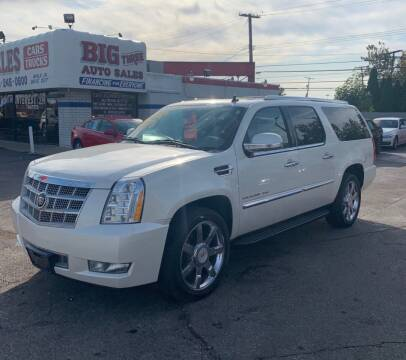 2011 Cadillac Escalade ESV for sale at Big Three Auto Sales Inc. in Detroit MI