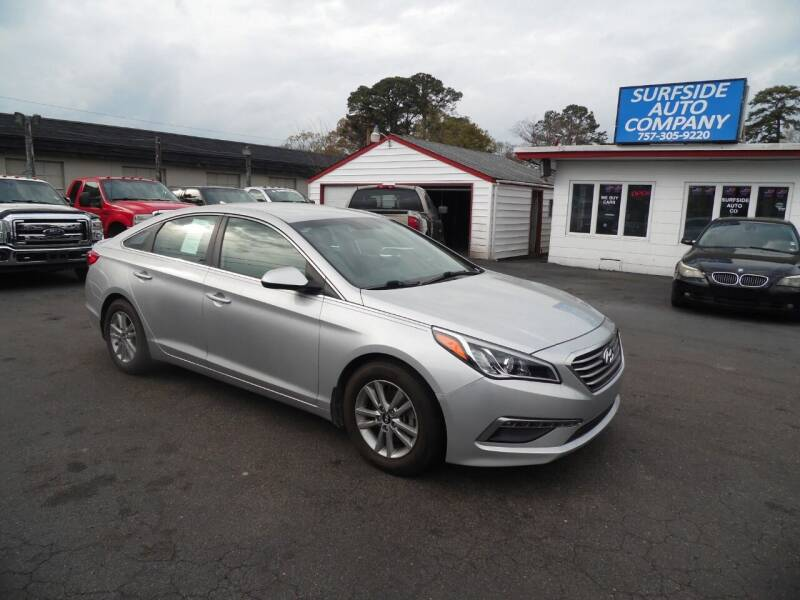 2015 Hyundai Sonata for sale at Surfside Auto Company in Norfolk VA