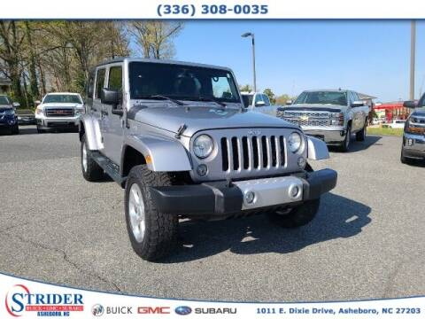 2014 Jeep Wrangler Unlimited for sale at STRIDER BUICK GMC SUBARU in Asheboro NC