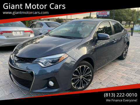 2016 Toyota Corolla for sale at Giant Motor Cars in Tampa FL