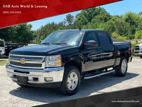 2012 Chevrolet Silverado 1500 for sale at DAB Auto World & Leasing in Wake Forest NC