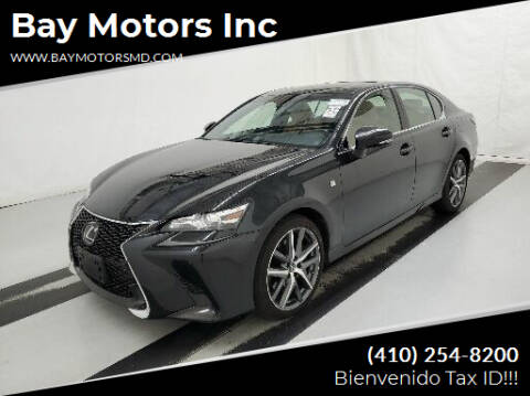 2017 Lexus GS 350 for sale at Bay Motors Inc in Baltimore MD