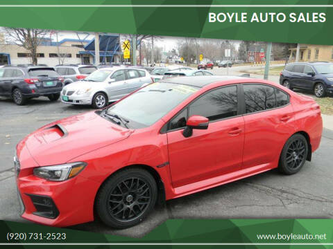 2018 Subaru WRX for sale at Boyle Auto Sales in Appleton WI