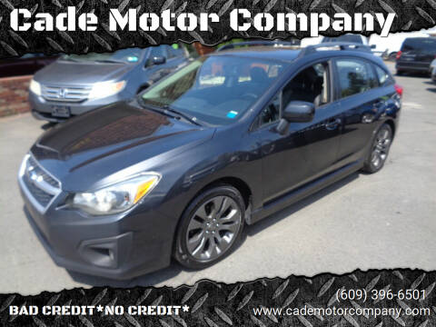 2012 Subaru Impreza for sale at Cade Motor Company in Lawrenceville NJ