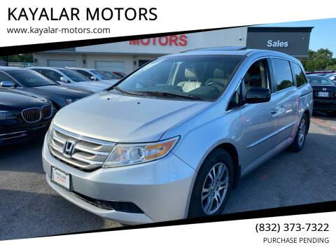 2012 Honda Odyssey for sale at KAYALAR MOTORS in Houston TX