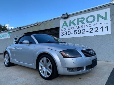 2002 Audi TT for sale at Akron Motorcars Inc. in Akron OH