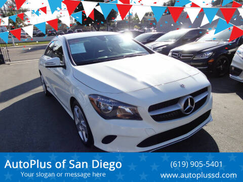 2018 Mercedes-Benz CLA for sale at AutoPlus of San Diego in Spring Valley CA