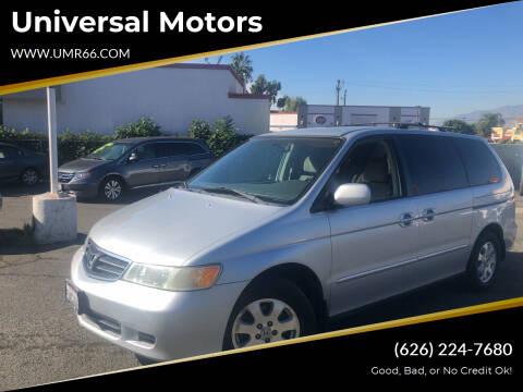 2003 Honda Odyssey for sale at Universal Motors in Glendora CA