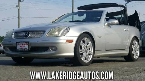 2004 Mercedes-Benz SLK for sale at Lake Ridge Auto Sales in Woodbridge VA