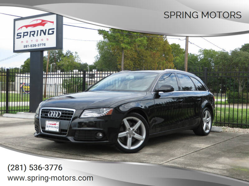 2011 Audi A4 for sale at Spring Motors in Spring TX