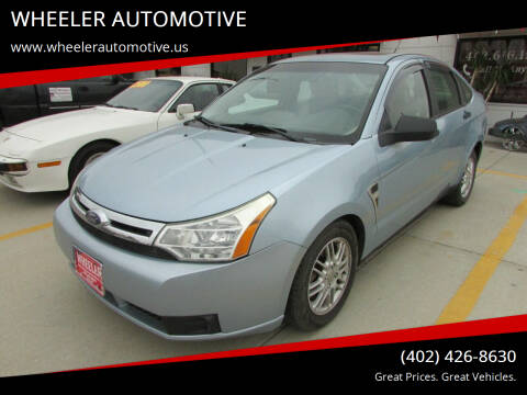 2008 Ford Focus for sale at WHEELER AUTOMOTIVE in Blair NE