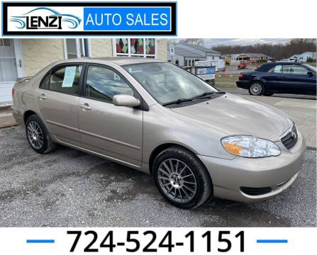 2008 Toyota Corolla for sale at LENZI AUTO SALES in Sarver PA