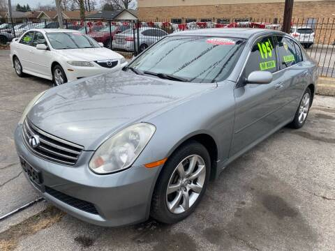 2006 Infiniti G35 for sale at Carfast Auto Sales in Dolton IL
