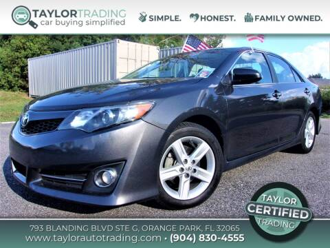 2012 Toyota Camry for sale at Taylor Trading in Orange Park FL