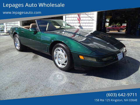 1996 Chevrolet Corvette for sale at Lepages Auto Wholesale in Kingston NH