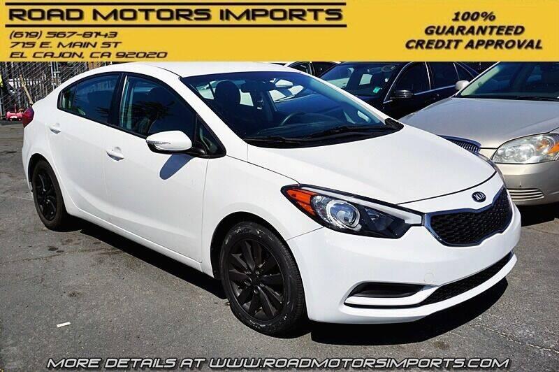 2016 Kia Forte for sale at Road Motors Imports in El Cajon CA