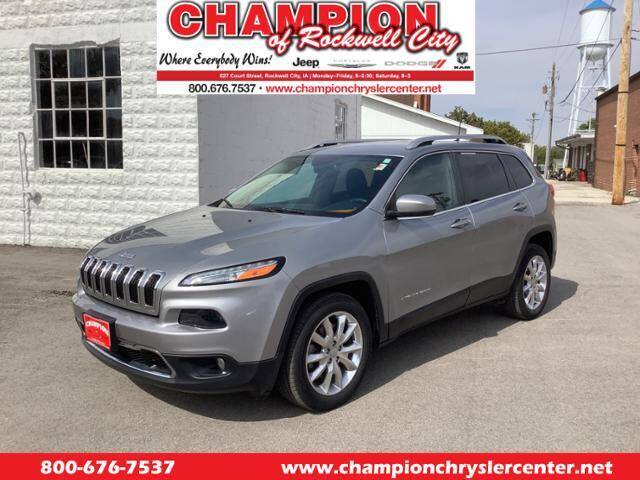 2016 Jeep Cherokee for sale at CHAMPION CHRYSLER CENTER in Rockwell City IA