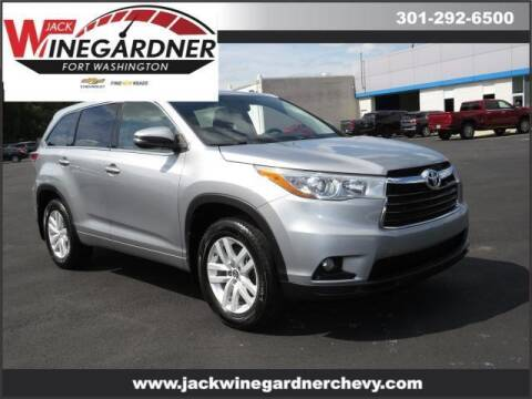 2016 Toyota Highlander for sale at Winegardner Auto Sales in Prince Frederick MD