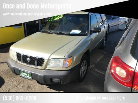 2001 Subaru Forester for sale at Once and Done Motorsports in Chico CA