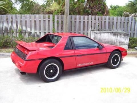 1988 Pontiac Fiero for sale at Classic Car Deals in Cadillac MI