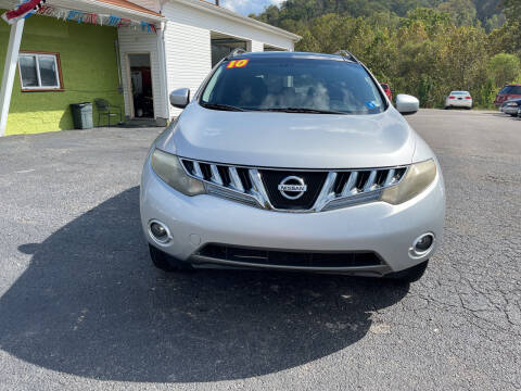 2010 Nissan Murano for sale at PIONEER USED AUTOS & RV SALES in Lavalette WV
