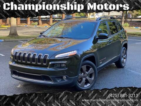 2017 Jeep Cherokee for sale at Mudarri Motorsports - Championship Motors in Redmond WA