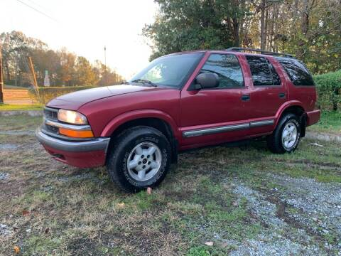 2001 Chevrolet Blazer for sale at Charlie's Used Cars in Thomasville NC