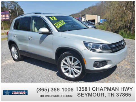 2012 Volkswagen Tiguan for sale at Union Motors in Seymour TN