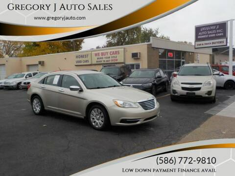 2013 Chrysler 200 for sale at Gregory J Auto Sales in Roseville MI