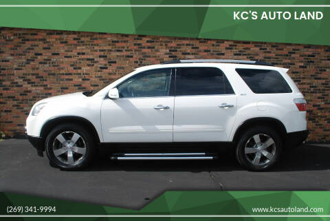 2012 GMC Acadia for sale at KC'S Auto Land in Kalamazoo MI