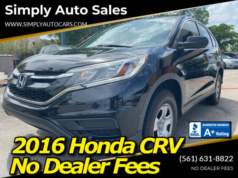 2016 Honda CR-V for sale at Simply Auto Sales in Palm Beach Gardens FL