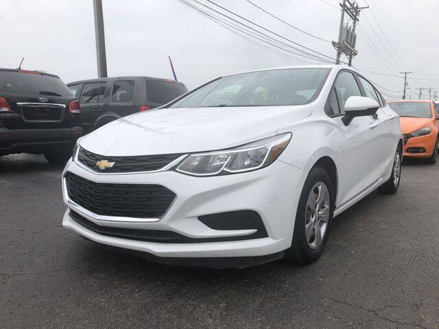 2016 Chevrolet Cruze for sale at Instant Auto Sales in Chillicothe OH