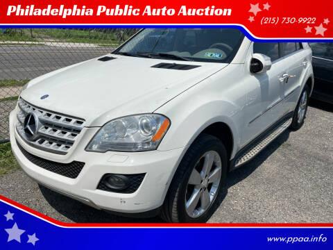 2010 Mercedes-Benz M-Class for sale at Philadelphia Public Auto Auction in Philadelphia PA