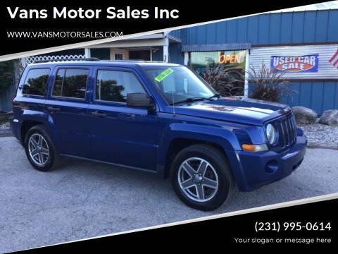 2009 Jeep Patriot for sale at Vans Motor Sales Inc in Traverse City MI
