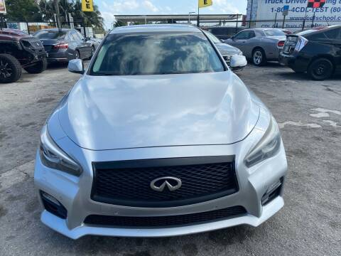 2014 Infiniti Q50 for sale at America Auto Wholesale Inc in Miami FL