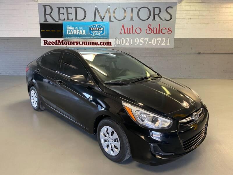 2015 Hyundai Accent for sale at REED MOTORS LLC in Phoenix AZ