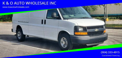 2012 Chevrolet Express Cargo for sale at K & O AUTO WHOLESALE INC in Jacksonville FL